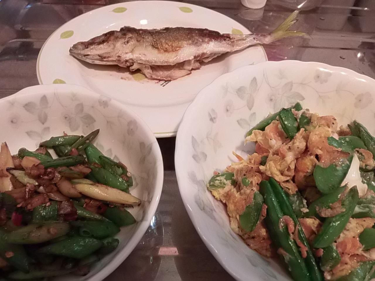 緑の恵みの食事
